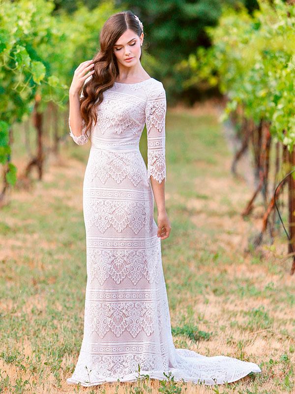 Vestido de noiva Modest